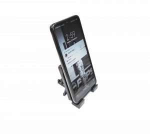 Mobile-plastic stand with phone